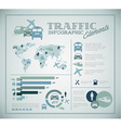 Big set of Traffic Infographic elements vector image vector image