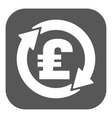 The currency exchange pound sterling icon Cash vector image
