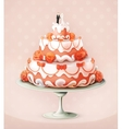 Wedding cake icon vector image
