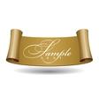 Gold Glossy ribbon vector image