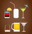 Drinks clip art vector image vector image