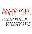 alphabet brush lettering vector image
