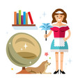 cleaning service flat style colorful vector image