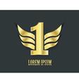 First place symbol Golden design vector image