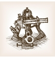 Sextant sketch style vector image