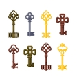 Vintage key isolated icon vector image