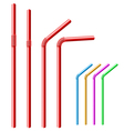 Drinking straw set vector image