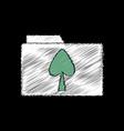 flat shading style icon spade symbol on folder vector image vector image