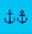 set of sea anchors vector image