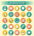 Science Icons with Long Shadows vector image