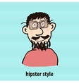 Cartoon hipster style vector image
