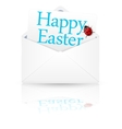 Open envelope with inscription Happy easter vector image