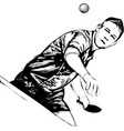 ping pong player vector image