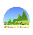 Welcome to Ireland vector image vector image