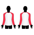 man wear raglan sleeve t-shirt vector image