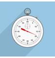 Flat Stopwatch vector image
