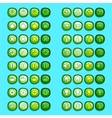 green game icons buttons icons interface ui vector image