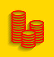 money sign red icon with vector image