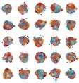 olorful speech bubbles EPS 8 vector image