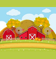 road and field on the farm vector image