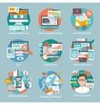 Seo Internet Marketing Flat Icon vector image