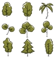 Doodle of tree simple collection vector image