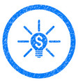 business idea bulb rounded grainy icon vector image