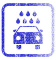 car shower framed textured icon vector image