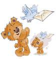 a brown teddy bear sends a vector image