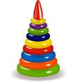 colorful pyramid vector image