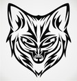 Fox Head Tattoo Design vector image