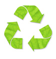 Green Recycle Symbol vector image vector image
