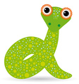 Cartoon of a snake on a white background vector image