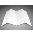 Folded Paper Sheet vector image vector image