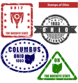 Ohio in stamps vector image
