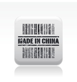 made in china icon vector image vector image