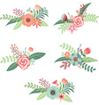 Wedding Flower Collection vector image vector image