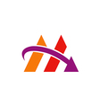 business finance arrow abstract logo vector image