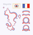 Colors of Mayotte vector image