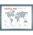 Design of infographic with the world map and text vector image