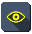 Eye View Longshadow Icon vector image