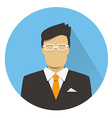 Flat icon of businessman vector image