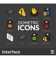Isometric outline icons set 32 vector image