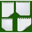 Set of torn paper sheets vector image