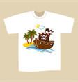 t-shirt print design pirate vector image