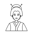 Isolated china woman design vector image