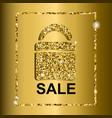 gold sale text on bag design vector image