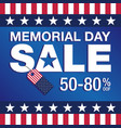 memorial day sale vector image