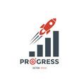 Digital red black startup vector image