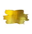 Gold foil watercolor texture vector image